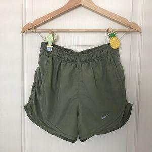 Army Green Nike Tempo Shorts
